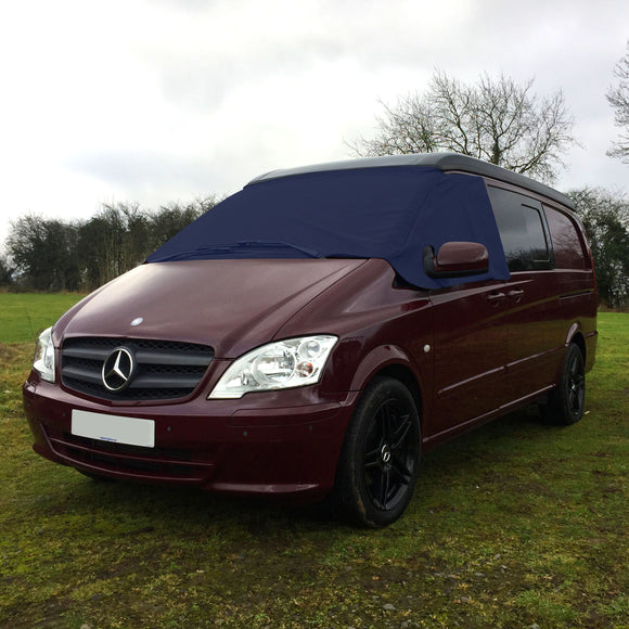 Mercedes Vito W639 Screen Cover - Plain Navy