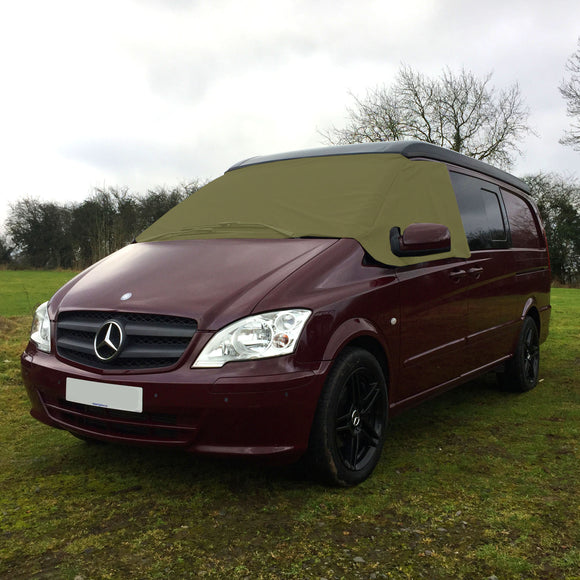 Mercedes Vito W639 Screen Cover - Plain Khaki