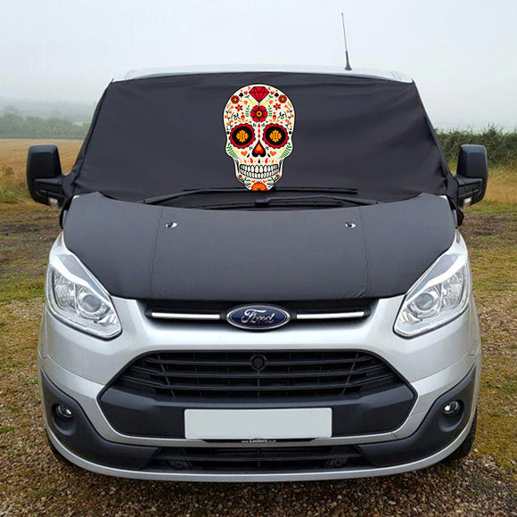 Ford Transit Custom Screen Wrap - Sugar Skull
