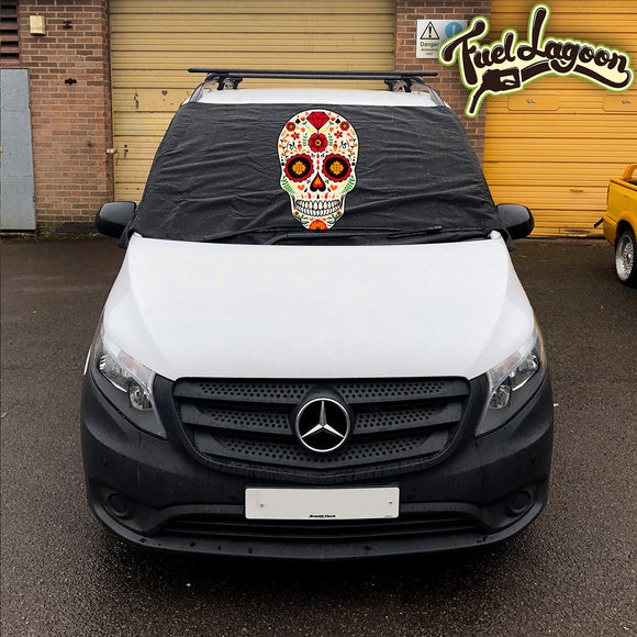 Mercedes Vito 447 Screen Cover - Sugar Skull