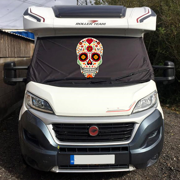 Ducato, Boxer, Relay Motorhome Screen Wrap - Sugar Skull