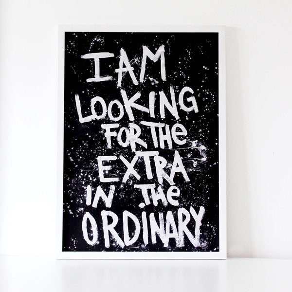 I am looking for the extra in the ordinary