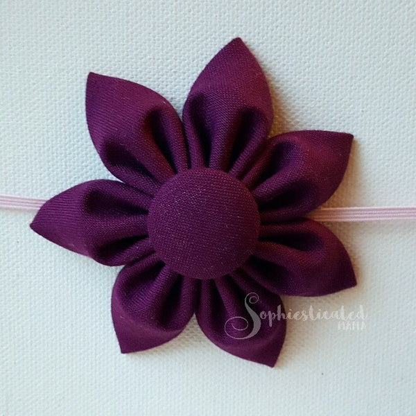 Headband or Clip Flowers by Sophiesticated Mama sold individually
