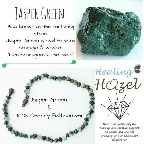 Healing Hazel Amber and Gemstone CHILD Size Necklace with Twist Clasp
