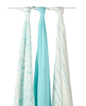 Aden and Anais Bamboo Muslin Blanket-3 Pack