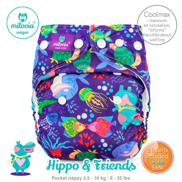 Milovia One Size Pocket Diapers Microfleece or Coolmax