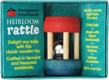 Maple Landmark Heirloom Wooden MINI Baby Rattles