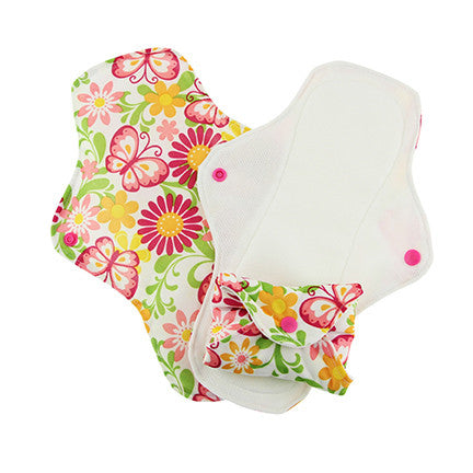 Pink Daisy Stay-Dry Menstrual Pads