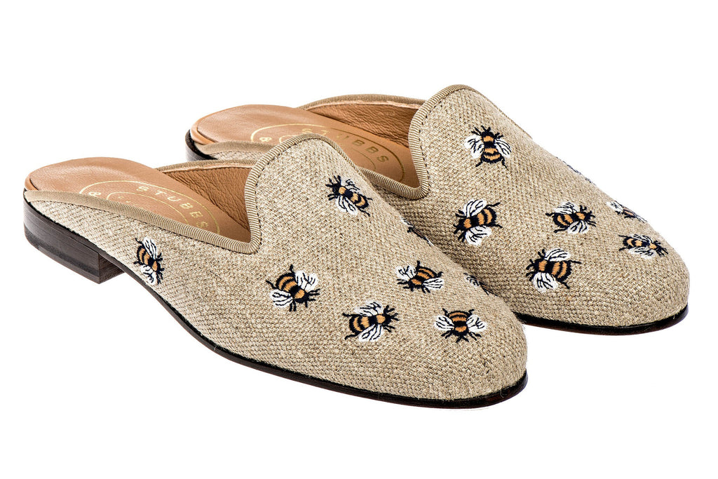 Stubbs and Wootton Buzz natural mule - Mrs Finch, Latest fashion, how to wear styles, celebrity fashion