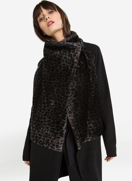 Uterque Animalier Fur Knit Coat