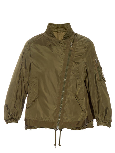 Moncler Lis nylon military style jacket - Mrs Finch, Latest fashion, how to wear styles, celebrity fashion