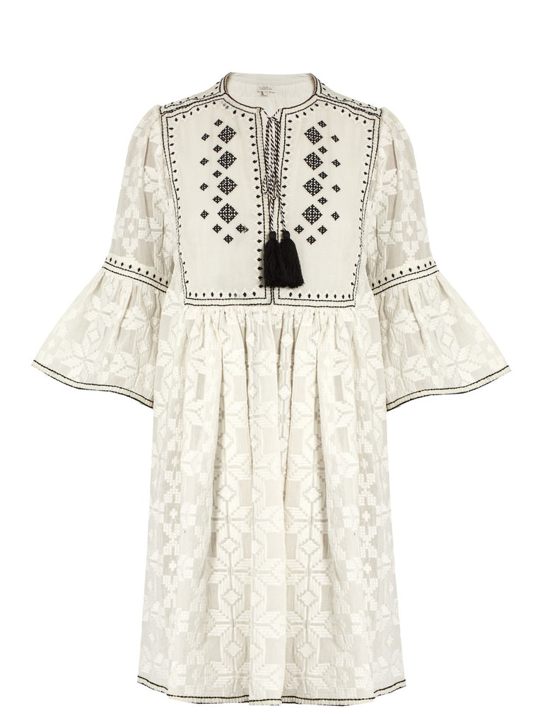 Talitha diamond-embroidered cotton dress - Mrs Finch, Latest fashion, how to wear styles, celebrity fashion