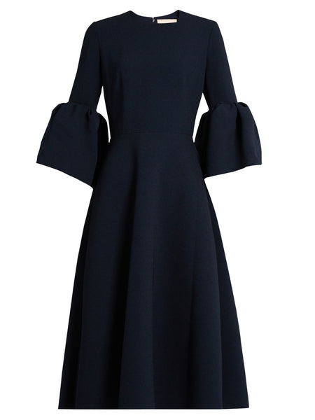 Roksanda Turin flounce-sleeved crepe dress - Mrs Finch, Latest fashion, how to wear styles, celebrity fashion