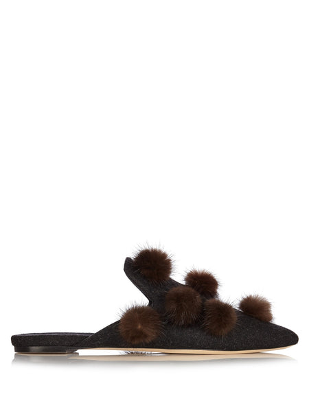 Sanayi 313 Pigne felt slippers - Mrs Finch, Latest fashion, how to wear styles, celebrity fashion