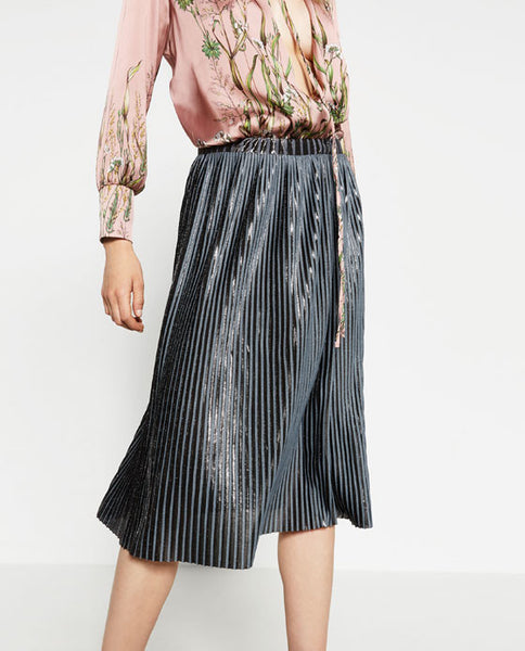 Pleated midi skirt - Mrs Finch, Latest fashion, how to wear styles, celebrity fashion