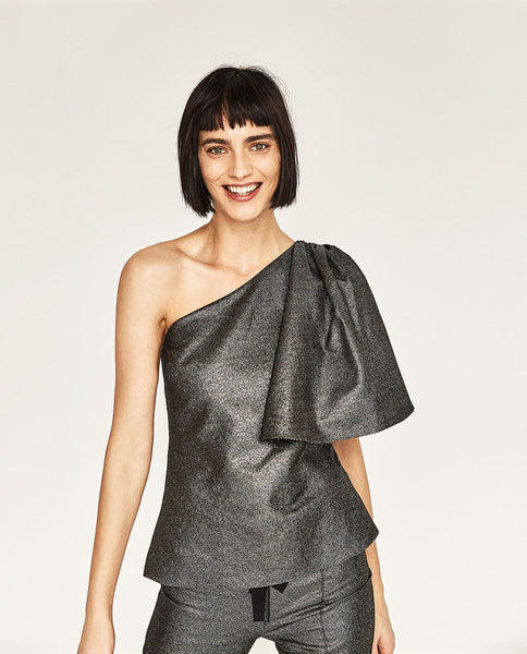 Zara Asymmetric party top