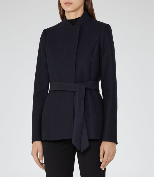 Reiss Franklin Belted Jacket - Mrs Finch, Latest fashion, how to wear styles, celebrity fashion