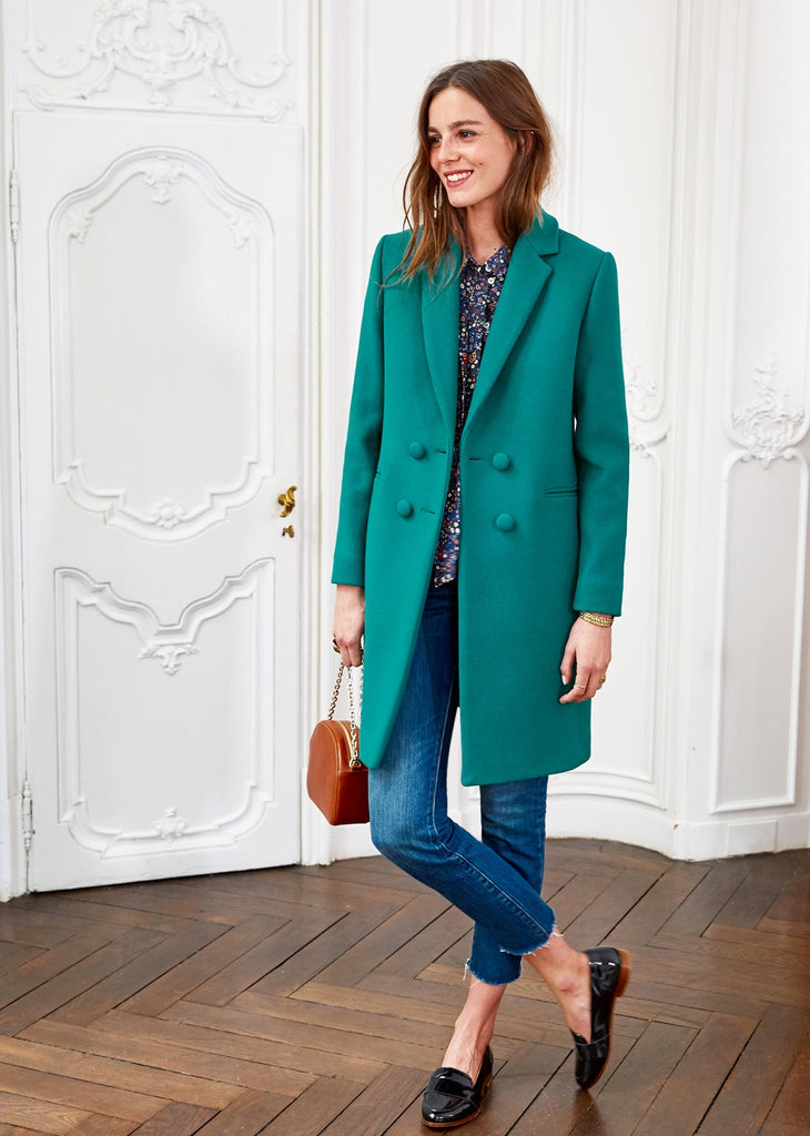Sezane Andre Coat - Mrs Finch, Latest fashion, how to wear styles, celebrity fashion