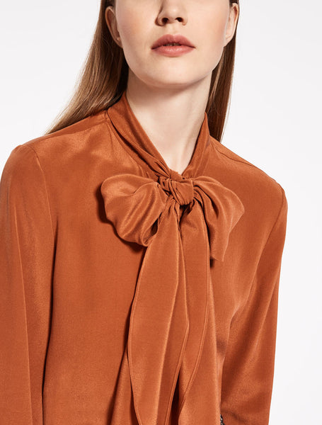 Max Mara pussy bow blouse - Mrs Finch, Latest fashion, how to wear styles, celebrity fashion