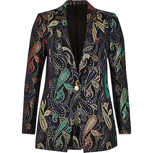 Metallic Jaquard Suit Jacket - Mrs Finch, Latest fashion, how to wear styles, celebrity fashion