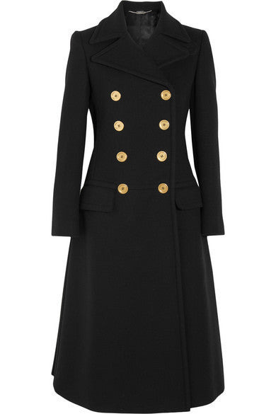 Alexander McQueen double-breasted wool coat - Mrs Finch, Latest fashion, how to wear styles, celebrity fashion