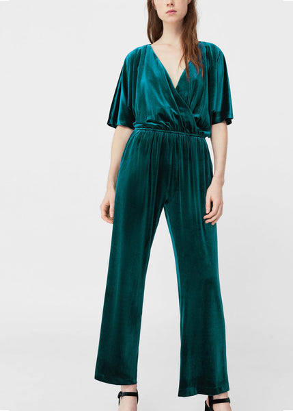 Mango Velvet jumpsuit - Mrs Finch, Latest fashion, how to wear styles, celebrity fashion