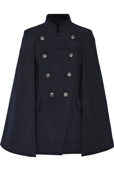 Pierre Balmain double-breasted felt cape - Mrs Finch, Latest fashion, how to wear styles, celebrity fashion