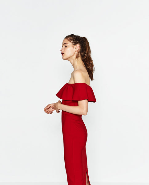 Zara off-the-shoulder dress