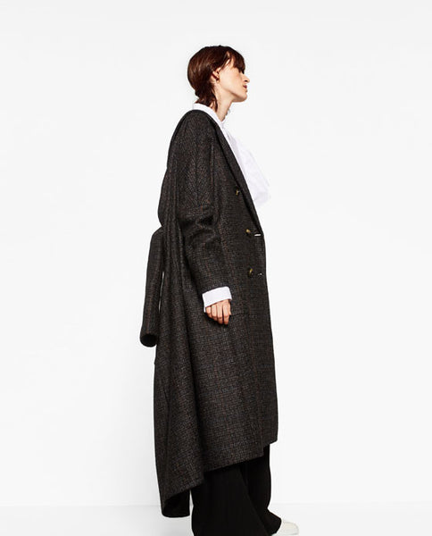 Oversized check coat - Mrs Finch, Latest fashion, how to wear styles, celebrity fashion