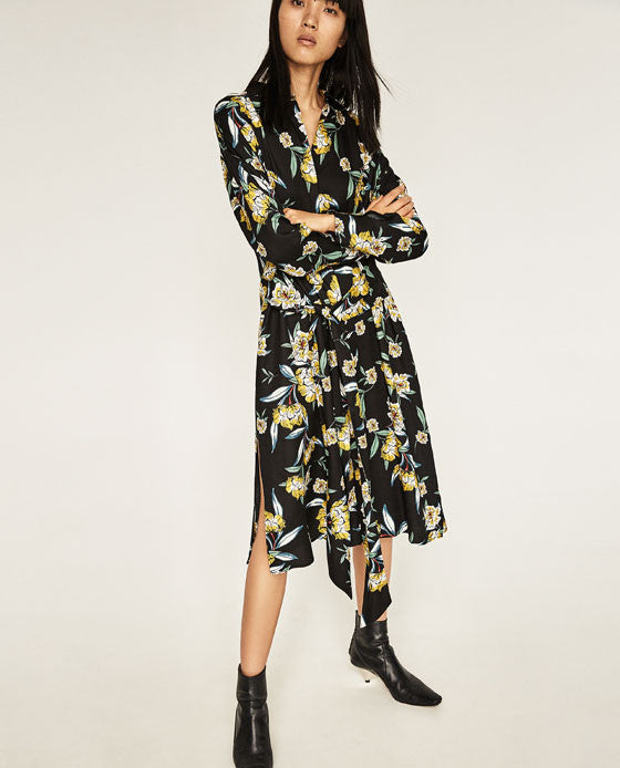 Zara printed belted tunic - Mrs Finch, Latest fashion, how to wear styles, celebrity fashion
