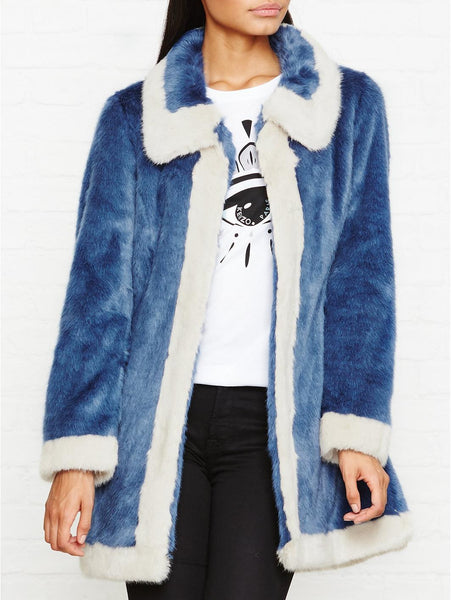 Unreal Fur Candy Blossom Contrast Edge Faux Fur coat - Mrs Finch, Latest fashion, how to wear styles, celebrity fashion