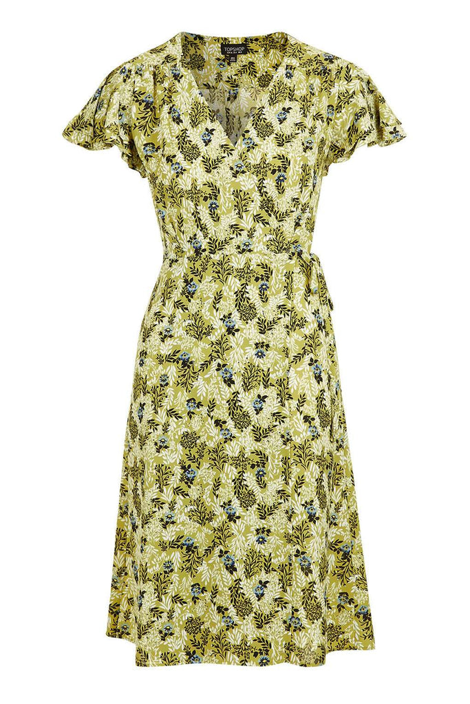 Topshop Ditsy floral wrap midi dress - Mrs Finch, Latest fashion, how to wear styles, celebrity fashion