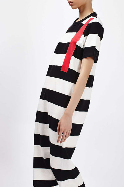 Mono stripe Midi dress - Mrs Finch, Latest fashion, how to wear styles, celebrity fashion