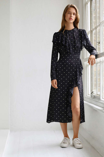 Topshop Polka deconstructed dress by Boutique - Mrs Finch, Latest fashion, how to wear styles, celebrity fashion