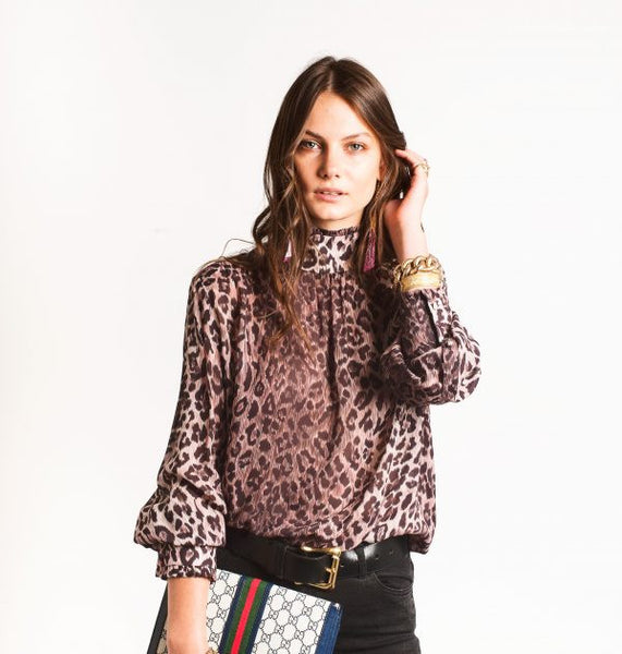 Rixo Victoria Top Leopardprint - Mrs Finch, Latest fashion, how to wear styles, celebrity fashion