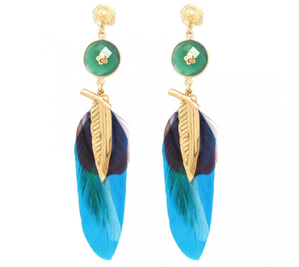Gas Bijoux feather earrings - Mrs Finch, Latest fashion, how to wear styles, celebrity fashion