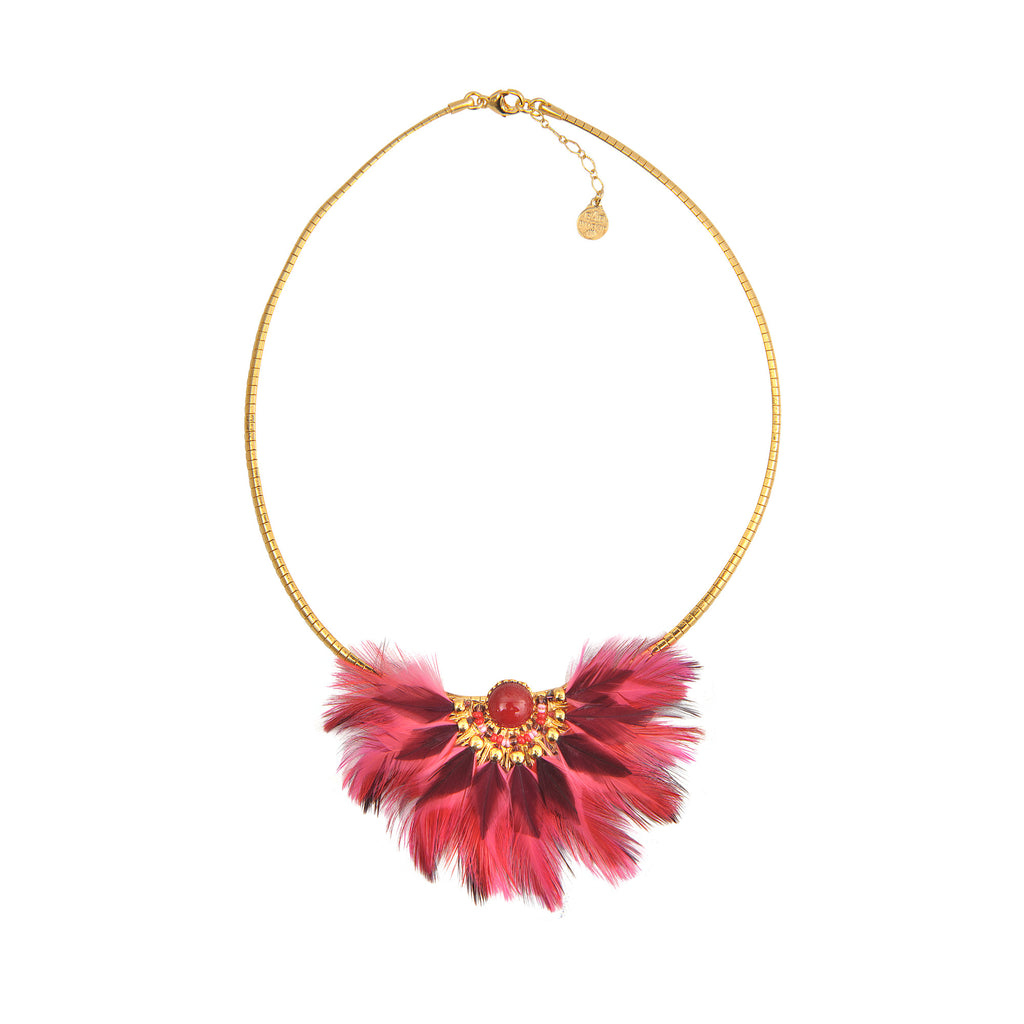 Gas Bijoux feather necklace - Mrs Finch, Latest fashion, how to wear styles, celebrity fashion