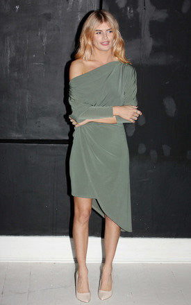 Tricia Dress Khaki - Mrs Finch, Latest fashion, how to wear styles, celebrity fashion