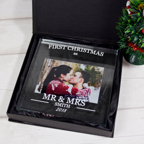 Large Glass Square - First Christmas as a married couple