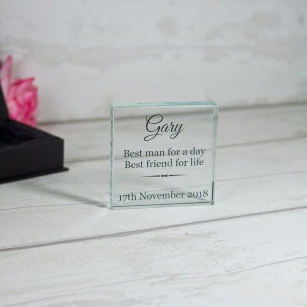 Small Glass Square - Best Man Wedding Gift