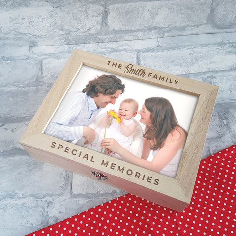 Engraved Photo Album Box