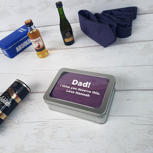 Personalised Father's Day Custom Message Gift Tin