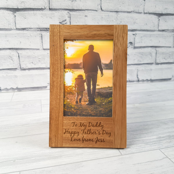 Oak Personalised Frame -