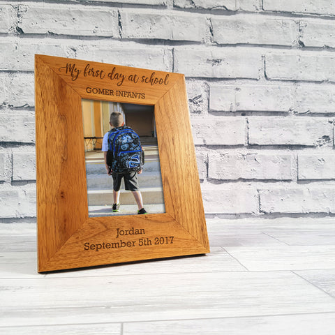 Personalised 'First Day Of School' Frame