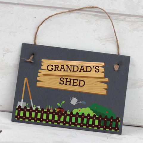 Personalised Slate Garden Plaque for Grandpa & Father