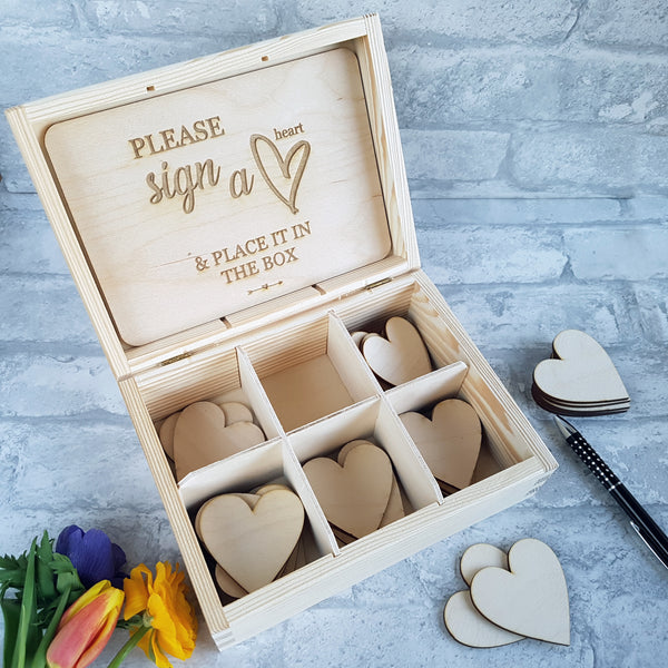 Wedding Guest Box with Hearts