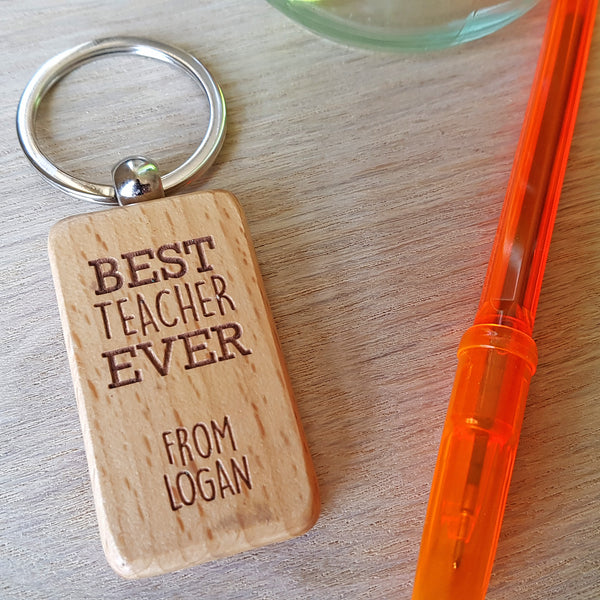Teacher Keyring - Best Teacher Ever