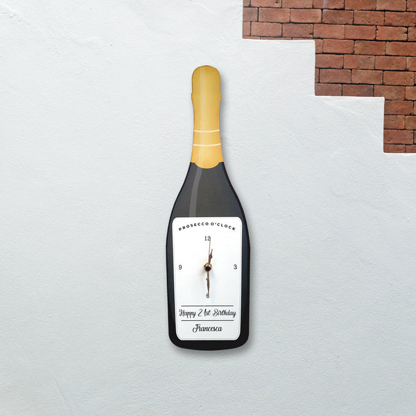 Prosecco Design Clock - Personalised