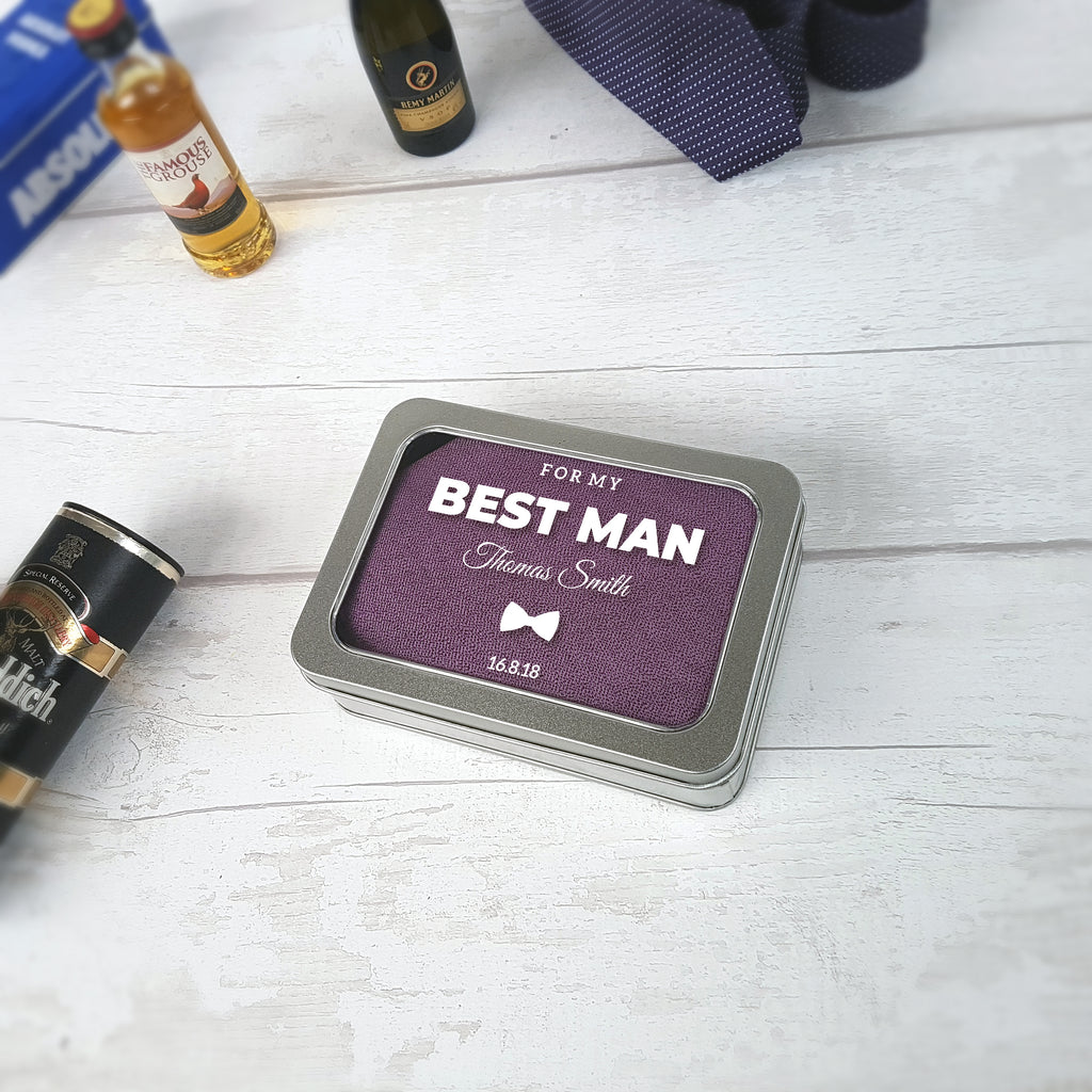 Personalised For My Best Man Wedding Tin