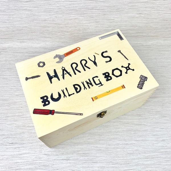 Childs Personalised Building Box